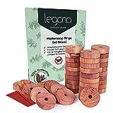 Legona® 40x Natürlicher Bio Mottenschutz aus Zedernholz / 100% Naturprodukt -...
