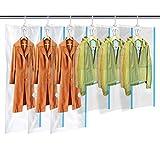 MRS BAG Hängend Vakuum Aufbewahrungsbeutel mit Kleiderhaken - Set aus 6 (3*Extragroß +...