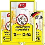 PIC Lebensmittel-Mottenfalle - Dreierpack = 6 Stück - Zum Fangen von Lebensmittelmotten...