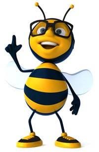 Biene-erhobener-Finger